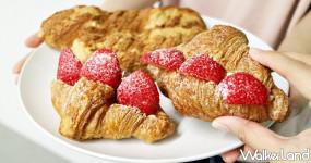草莓控無法冷靜!貪吃狗泡芙推出隱藏版「草莓蜂糖可頌」搶攻草莓控打卡新歡,再加碼期間限定「爆餡草莓泡芙」買4送6超狂優惠。