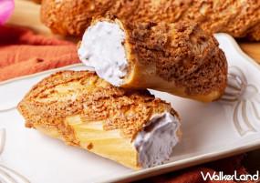 芋頭控的大甲芋頭泡芙!貪吃狗全新推出「大甲芋頭卡滋棒棒」爆漿登場,吃得到顆粒的「大甲芋頭」卡士達內餡搶攻芋頭控的芋頭甜點排行榜。