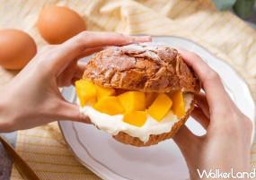 芒果漢堡要先拍IG!貪吃狗Greedy Beagle「鮮芒生乳丹麥菠蘿」強勢登場,濃郁系「芒果生乳酪塔」讓芒果控宅配回家吃。