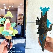 哥吉拉出沒!造型有夠浮誇,視覺系霜淇淋也太狂!原來霜淇淋可以這麼百變~【CornerCone酷礦美式手作霜淇淋-台南淺草店】台南美食|國華街|正興街