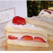 台中超人氣千層蛋糕逢甲新開幕!外帶組合每片只要100元,草莓千層每天限量三小時就完售~