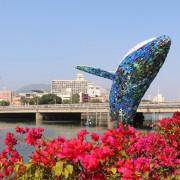 高雄景點。愛河 愛之鯨 裝置藝術 15米高鯨魚在愛河 x 高雄另類賞燈景點