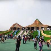 【苗栗。竹南】帶孩子去走走|火炎山造景大型溜滑梯.獅山多功能運動公園