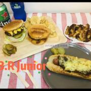 B.R Junior 二世浪子之正宗美式漢堡 肉汁香甜 麵包紮實 配料實在 公館美食好選擇 外送美食首選