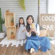 高雄「可可翁來 Coco Pineapple」充滿南洋風的飲料店。