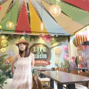 台中 北屯區 奶油河馬家庭餐廳~童心啟動,來到馬戲團樂園用餐