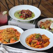 台中美食|嚼食noms學士店-主打多種特色醬汁義大利麵,團體聚會最佳首選