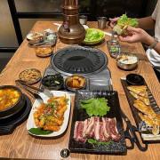 明月館 台中 🏵 韓式 燒烤 定食 🏵 麗寶二期 海鮮煎餅真D酥脆好吃