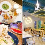 台中美食︱亞丁尼義式麵屋~網美風格的環境、只要點主餐就送紅茶或綠茶,且不收服務費