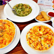 【中和義大利麵】Win Win Pasta 景安店/CP值超高的義大利麵、燉飯、披薩、炸物任你點,濃湯飲料隨你喝到飽