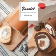 石牌美食|亞尼克生乳捲|新口味X巧克力雪糕生乳捲。門市限定X鮮芋奶霜生乳捲