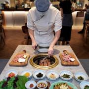 沒想到美術館週遭巷弄隱藏著韓式燒肉美食,全程專人代烤,Ribbon的肉品附餐都很可以耶~
