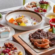 台中中央公園最美牛排餐廳推薦,還有熟食、水果、甜點、飲料、冰淇淋自助吧吃到飽!樂凱撒牛排餐廳 - 艾薇覓食趣