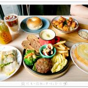 [高雄食記] 咕嘰咕嘰早午餐~楠梓早午餐推薦!大份量手打漢堡排拼盤、日式唐揚雞丼飯、古早味蛋餅、職人貝果、鮮奶厚片吐司!(楠梓德賢店)