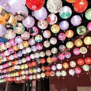 """彰化燈籠高高掛之""""元清觀"""",市民彩繪藝術燈籠,點亮彰化~夜晚很美麗!"""