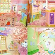 【台北景點】躲貓貓櫻花季快閃店/松山文創園區~免費入場,帶大家穿越到日本,在貓咪的圍繞下享受本享受日式風情