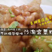 台南北區 | 忘不了的極簡風味【沙淘宮菜粽】丟細愛這古早味 / 台南在地好味道 / 西門路二段