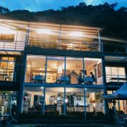【花蓮】向陽山茶鋪|邊賞夜景邊吃飯好浪漫*