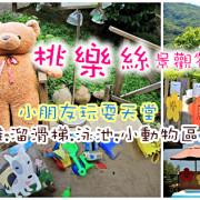 [新北 八里景點] 桃樂絲森林(景觀餐廳),小朋友不想回家啦!! 沙堆/溜滑梯/玩水/動物區/撈魚!!