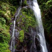 【南投。埔里】一泓飛瀑。懸天飛濺。觀音瀑布。蝶飛舞