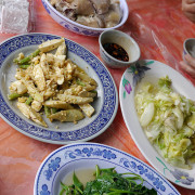 陽明山竹子湖●青菜園(土雞、合菜、地瓜湯、米粉湯)