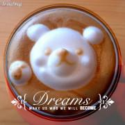 【台中西區】 52cafe超萌3D立體小熊拉花咖啡!完全擄獲少女心!
