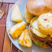 【台北信義區】躲藏在咖啡館裡的秘製漢堡,鄰近捷運101站的早午餐.POND BURGER CAFÉ