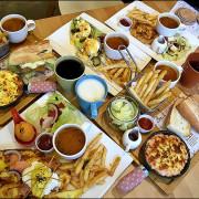 台中早午餐推薦。莎莎莉朵Sausalito CAFE(附最新菜單)。美術館周邊祕密花園。餐點豐盛份量紮實好看又好吃