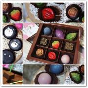 ╠宅配。甜點╣甜,是幸福的味道!Nina巧克力工坊~☆療癒你我的心【龍貓造型馬卡龍、70%厄瓜多爾生巧克力、9入手製單品巧克力禮盒】享受甜蜜分食樂趣!