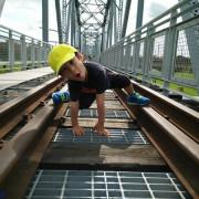 【遊記】高雄大樹_舊鐵橋濕地教育園區@我愛天空步道的空中扮演之旅  當一台與眾不同的小小火車吧