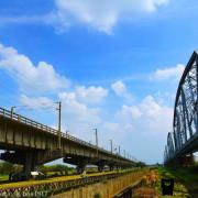 【高雄。大樹】高屏溪舊鐵橋天空步道。大樹舊鐵橋。下淡水溪鐵橋。舊鐵橋濕地公園。高雄大樹景點