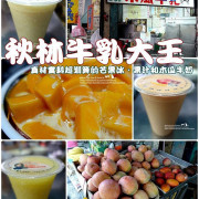 食記°屏東屏東 -【 秋林牛乳大王 】真材實料超划算的芒果冰、果汁和木瓜牛奶