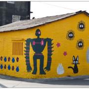 〈台南善化〉胡厝寮外婆的彩繪牆