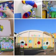 【彰化北斗景點】愛玩色創意館觀光工廠~跟著凱樂兔的足跡一起走,色彩繽紛玩色城堡,浪漫又療癒的星空館溜滑梯