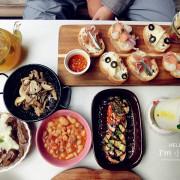 蔬果研究室。健康清爽美味蔬食餐點!西班牙tapas雙人套餐一次嚐到多種料理!也有下午茶!有好多法國兔娃娃!
