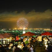 【台中│景點】台中新夜景餐廳,沙鹿不夜城,庭園設計好美。不夜天夜景餐廳