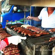 【雲林斗南美食】斗南大腸包小腸,在地人大推好滋味~炭火烤過簡單配料就是好吃,食尚玩家151、哈孝遠
