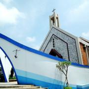 【台中龍井】另類景點。磐頂教會--船型教堂,來看諾亞方舟、認識神!(東海大學路思義教堂順遊路線)