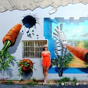 【台南。將軍區】展現漁村風情之『馬沙溝(長沙里)3D立體彩繪村』,以可愛動物為主題,每一幅都是創意十足的原創作品!