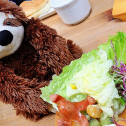 超可愛樹懶陪你吃早餐!台中米閃早午餐新木盆沙拉超彭湃阿! - 棉花糖的天空