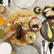 棧 F-U Kitchen FUK-中山站附近特色餐館  兼具美式、歐式、日式風格餐點  原木柴燒炭烤火熱熱  水管卡座最吸睛  可惜餐點與價格不能正比