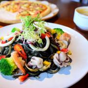 新北永和|藍柚小廚,永和美食推薦,大推黑惡魔海鮮寬扁麵,附藍柚小廚菜單
