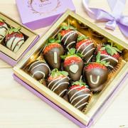 【台北捷運美食】【信義安和站美食】Q sweet 精品甜點 情人節草莓巧克力+熱巧克力