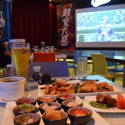 Lamigo棒球餐廳~~台北信義.猿風.美味餐點搭配超大螢幕Live直播讓現場氣氛超high