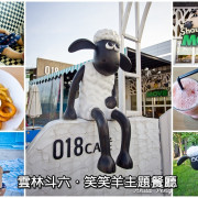 【吃喝.雲林】斗六018咖啡甜品玩國~全國唯一授權笑笑羊主題餐廳,有沙池、溜滑梯適合親子的餐廳