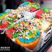 《北市信義區♥食記》N.Y. BAGLES。Rainbow Bagel 七彩炫風來襲,引進風靡紐約饕客的彩虹貝果正式登台,8/1 ~ 8/31 快閃信義區!