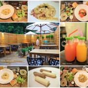 『高雄。5號後院-輕食/早午餐/小酒夜』~餐點好好拍/美麗後花園