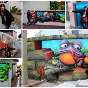 """【台中景點】『台中石岡九房里童話世界3D彩繪』-又多了一個可以盡情拍照的景點囉""""笑""""果十足,一起融入石岡九房童話世界的3D彩繪世界裡吧"""