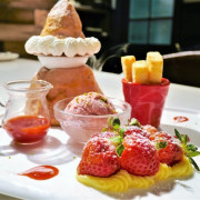 【台北信義區 | 甜點】全台獨創的布里歐火山甜點▲歐維聚-義式複合式餐廳 Oridream Food