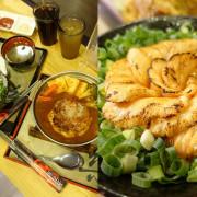 樂坐屋 花朵綻開最美的炙燒鮭魚~油脂逼人軟香嫩口 大份量的鐵板手作漢堡肉 平價創意料理 cp最高飽嘟嘟 !!